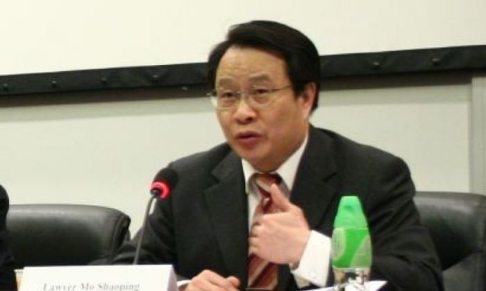 Lawyer Mo Shaoping. (Wu Lianyou/The Epoch Times)