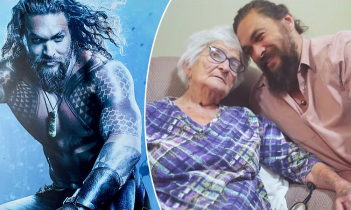 Aquaman Star Jason Momoa Posts Photos of Quality Time With #1 Fan, His Grandma