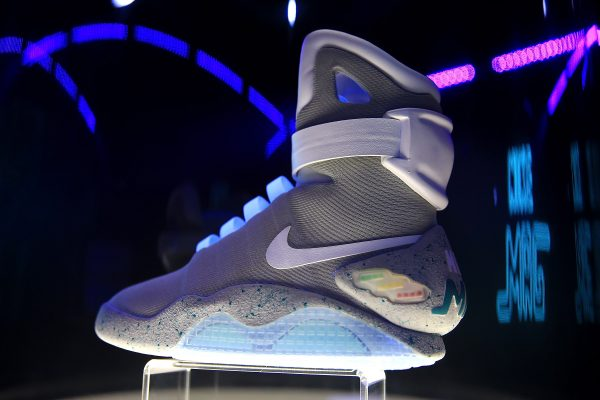 the latest 23986 10a27 A detailed view of the Nike Mag during an auction in London, on Oct. 14,  2016. (Ben Hoskins Getty Images for Nike   Michael J Fox Foundation)