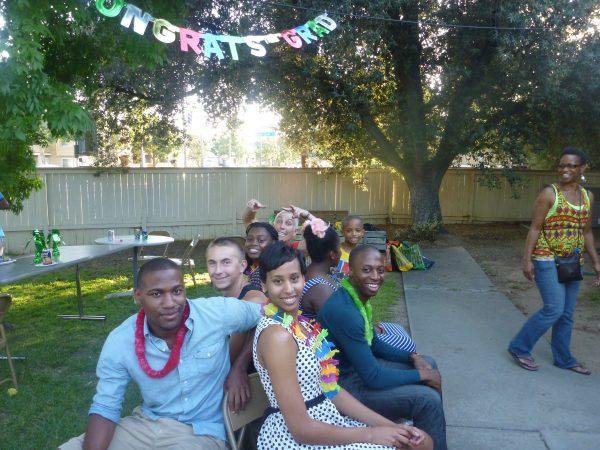 Taylor at a party