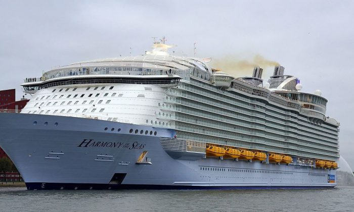 Royal Caribbean's Harmony of the Seas in the Netherlands in an undated photo (Kees Torn via Creative Commons Attribution-Share Alike 2.0 Generic license)