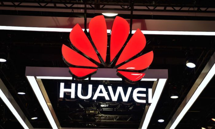 The Huawei logo in Las Vegas, Nevada on Jan. 9, 2018. (David Becker/Getty Images)