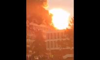 Fireball Explodes Across Roof of University in France