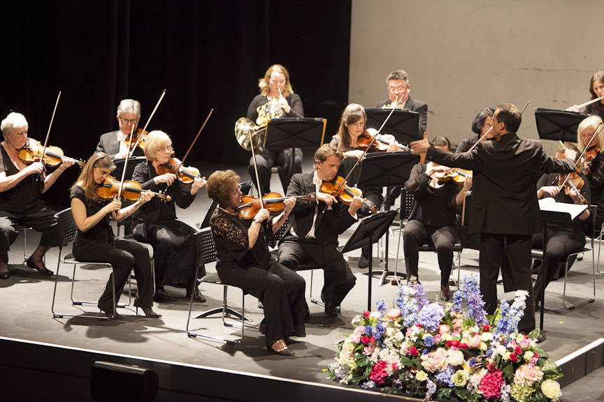 conductor Damian Iorio with Milton Keynes Orchestra