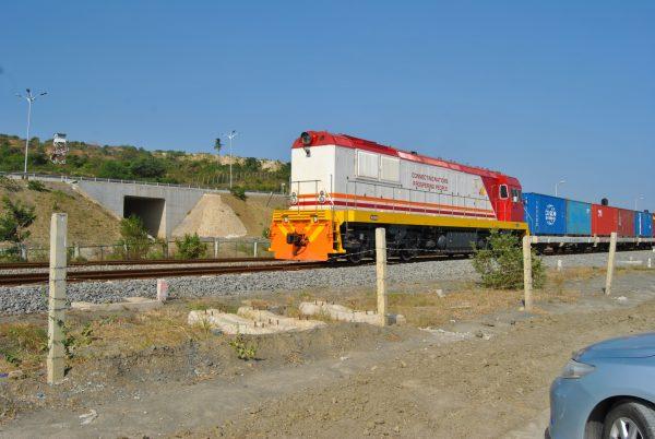 a cargo train