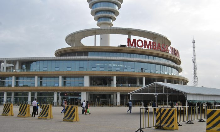 A front view of the Mombasa SGR Terminus on Jan. 16, 2018. (Dominic Kirui/Special to The Epoch Times)