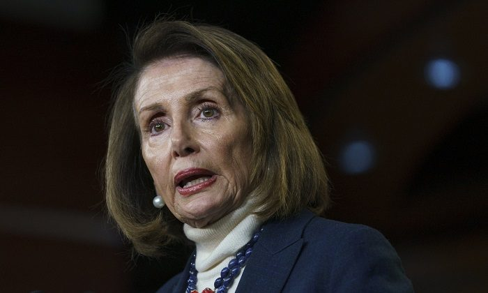 House Speaker Nancy Pelosi of Calif., speaks during a news conference on Capitol Hill in Washington, on Jan. 17, 2019. (Carolyn Kaster/AP Photo)