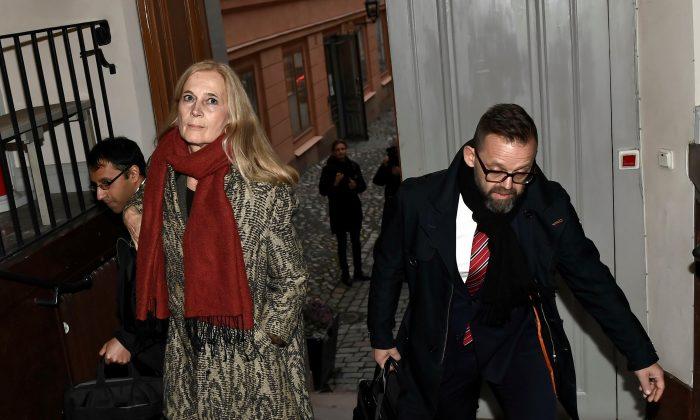 Katarina Frostenson in Stockholm on Nov. 14, 2018. (Jonas Ekstromer/TT News Agency/via Reuters)