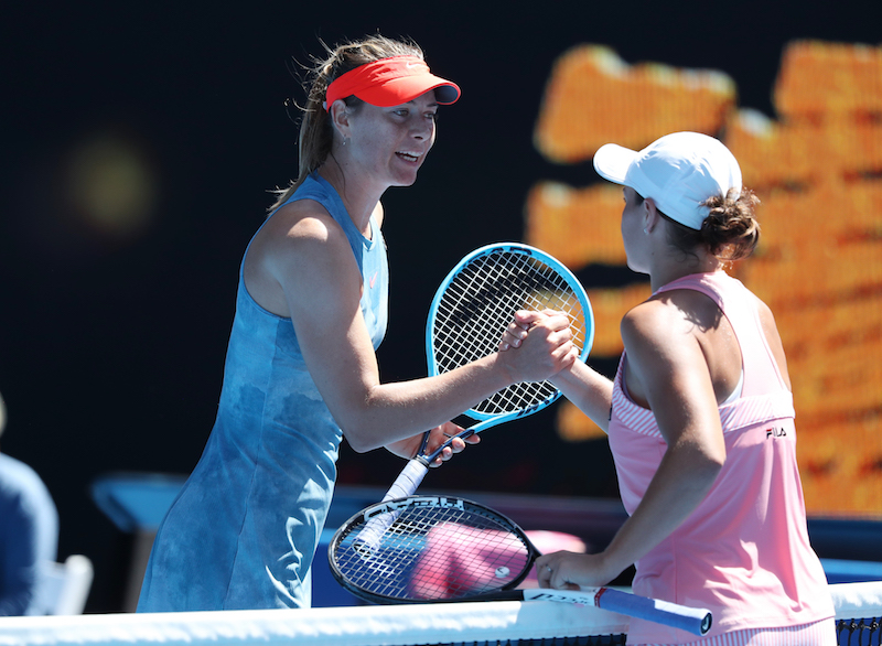 Maria Sharapova and Ashleigh Barty