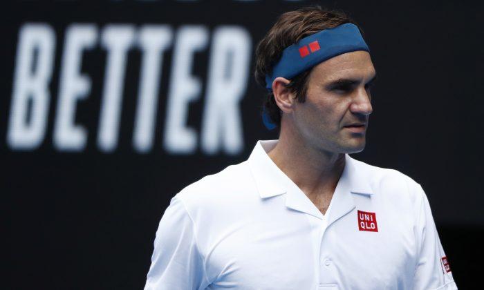 Switzerland's Roger Federer during the match against Britain's Dan Evans at the Australia Open in Melbourne, Australia, on Jan 16, 2019. (Edgar Su/Reuters)