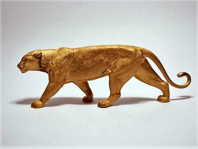 Bronze panther big cat