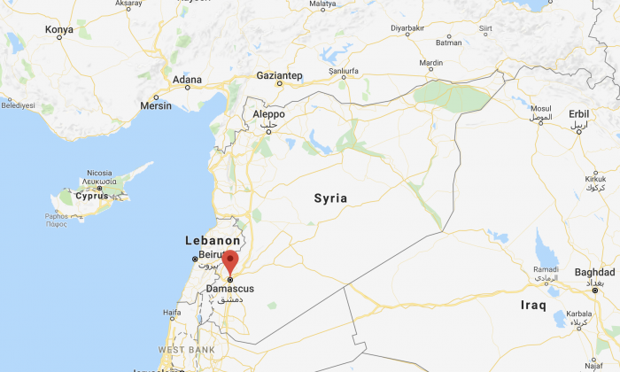 Location of Damascus in Syria. (Screenshot/Google Maps)