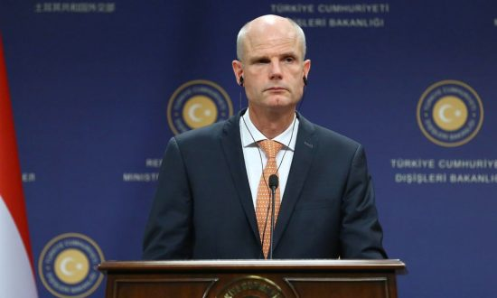 Dutch foreign minister Stef Blok attends a press conference following a meeting with his Turkish counterpart in Ankara on Oct. 3, 2018. (ADEM ALTAN/AFP/Getty Images)