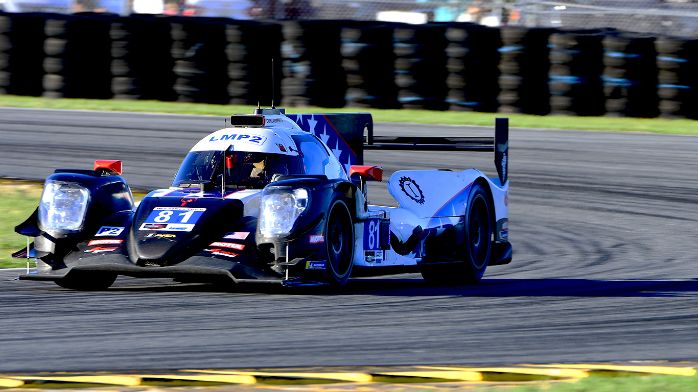 The #81 Dragonspeed Oreca was quickest of the LMP2s.