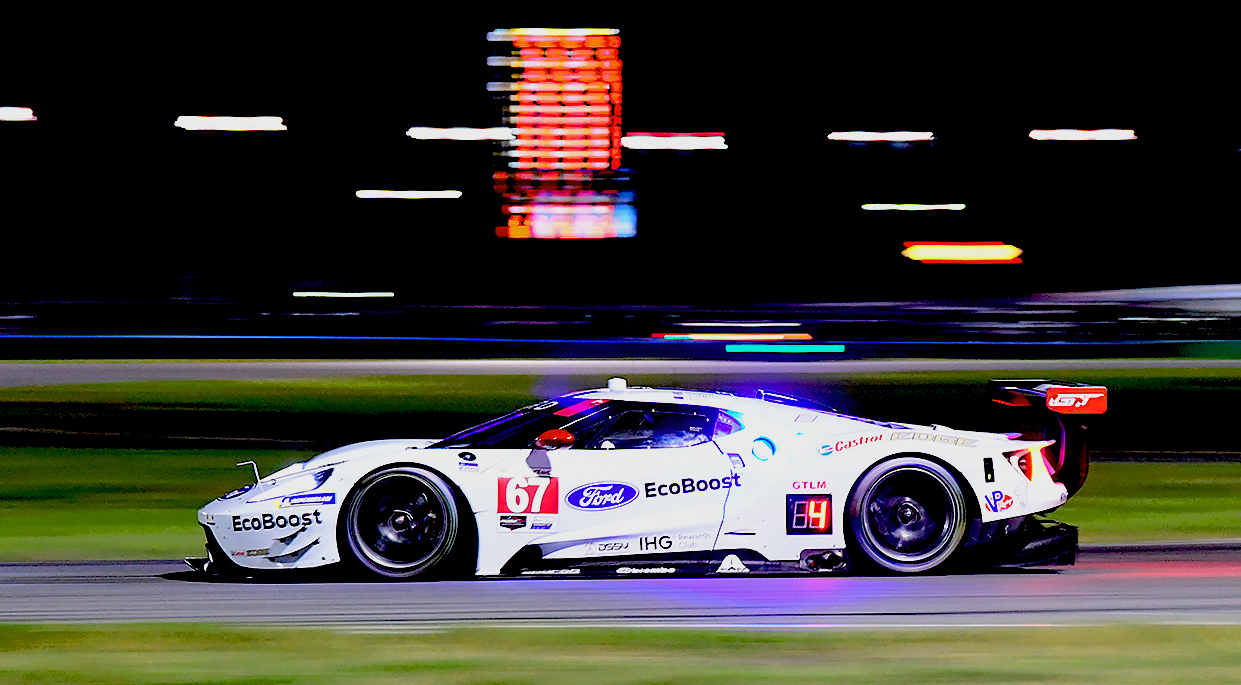 The GTLM Fords will both be sporting throwback liverie