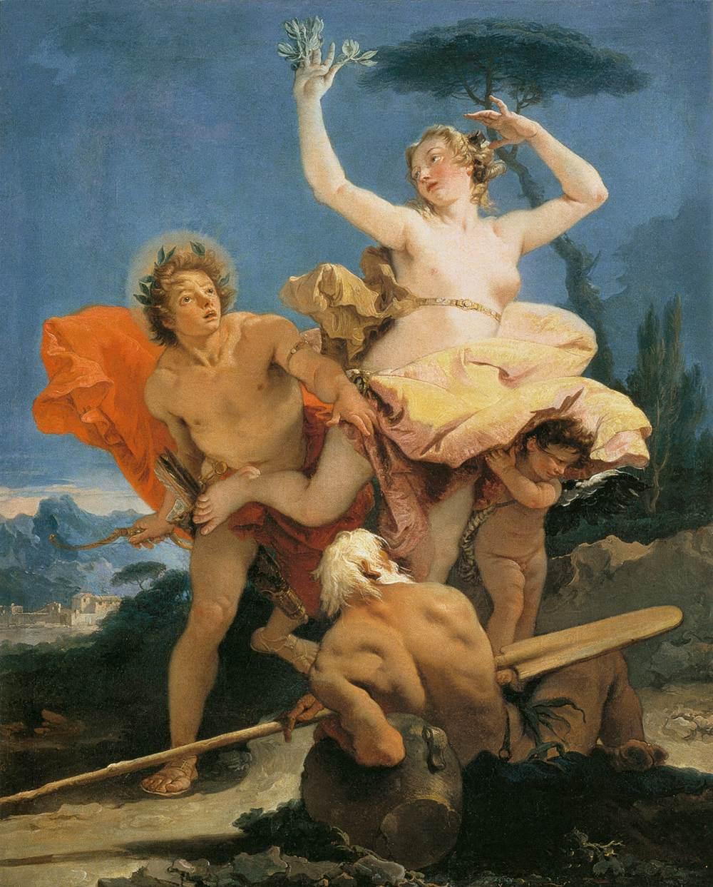 Apollo_and_Daphne by Giovanni Battista Tiepolo