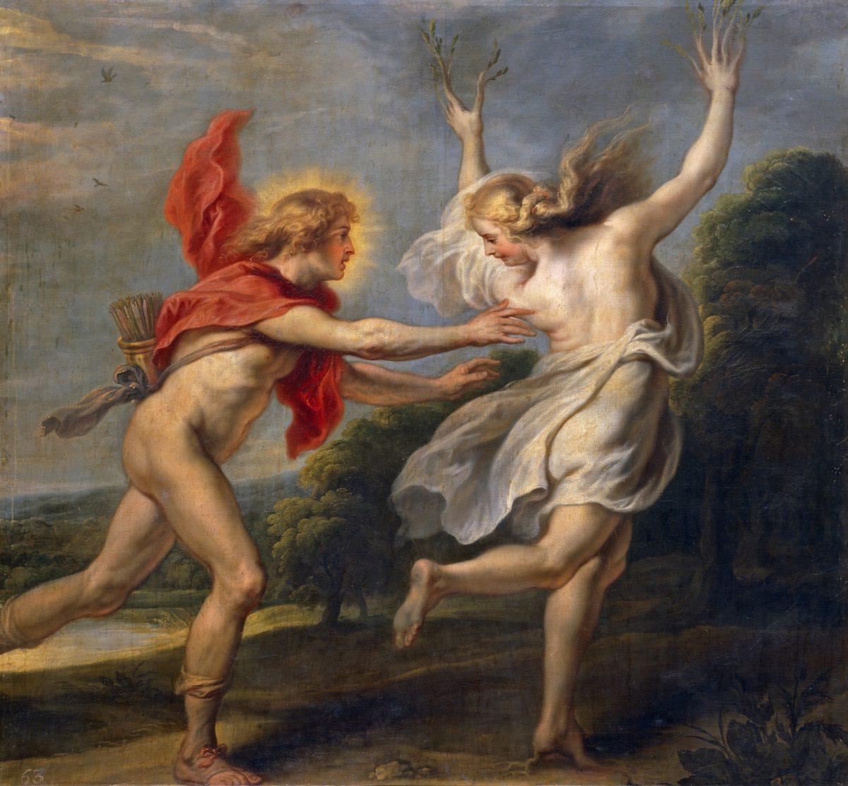 Apollo_chasing_Daphne,_1630 Cornelis de Vos