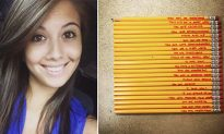 Teacher Sees Messages Written on Student's Pencils and Immediately Takes to Facebook