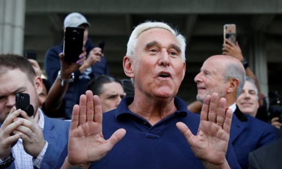 Roger Stone after his appearance at Federal Court in Fort Lauderdale, Fla., Jan. 25, 2019. (Joe Skipper/Reuters)