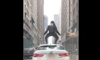 Crazed Cyclist Leaps on Uber Roof in Midtown Manhattan, Attacks Driver With Lock