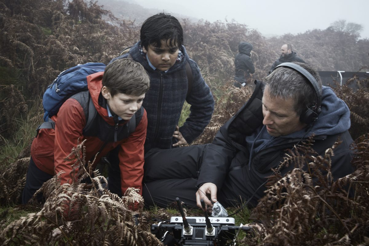 boy actors and director Joe Cornish