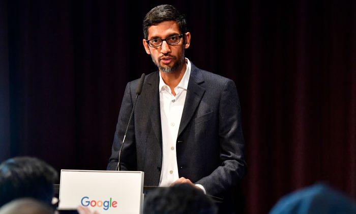 Google CEO Sundar Pichai in Berlin on Jan. 22, 2019. (Tobias Schwartz/AFP/Getty Images)