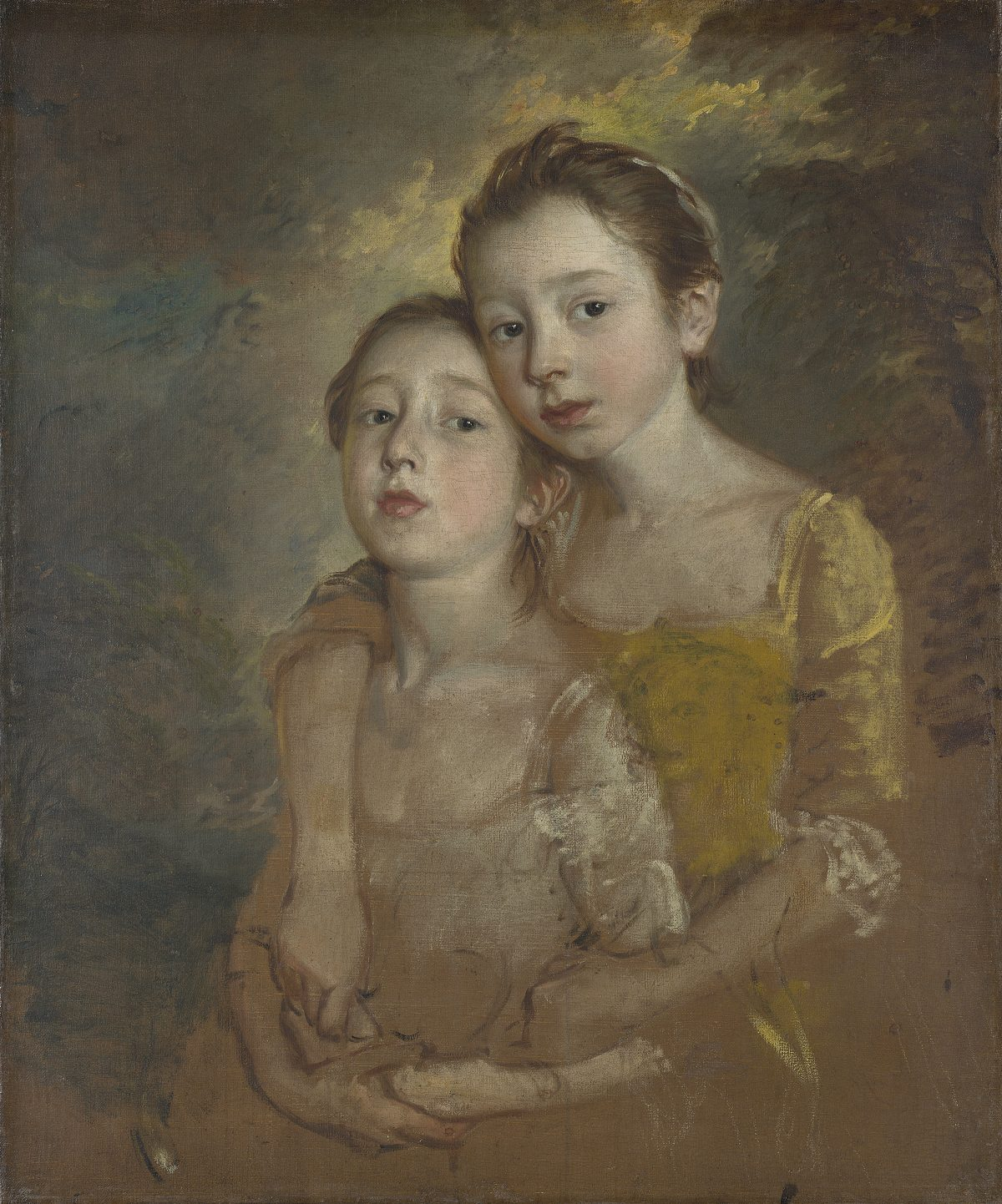 Two young girls 18th century