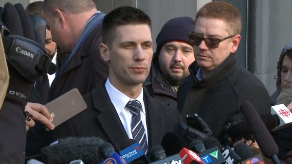 Toronto police detective David Dickinson speaks to reporters after Bruce McArthur's court appearance at the Ontario Superior Court of Justice in Toronto, Canada on Jan. 29, 2019. (NTDTV)