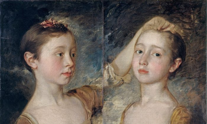 """Mary and Margaret Gainsborough, the Artist's Daughters,"" circa 1760–1761, by Thomas Gainsborough. Oil on canvas. Bequeathed by John Forster, Victoria and Albert Museum, London. (Victoria and Albert Museum, London)"