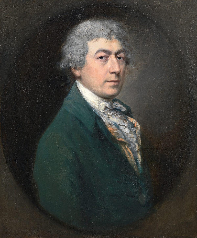 Portrait of 18th century man Thomas Gainsborough