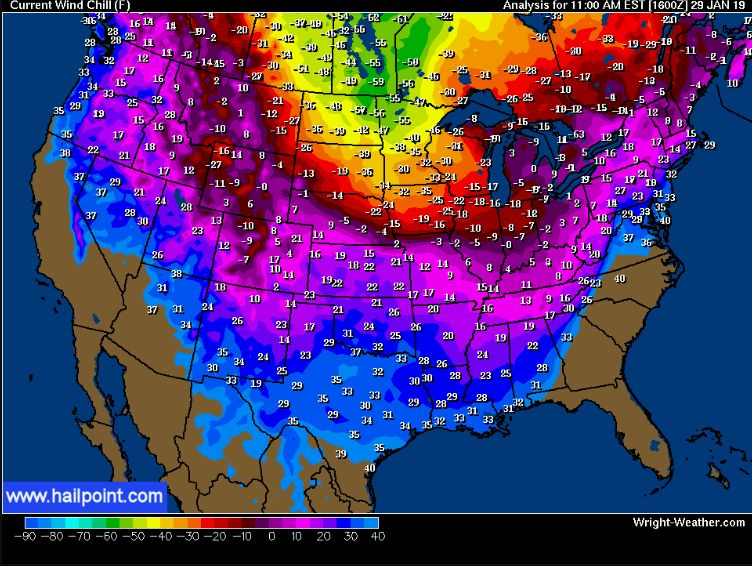 Arctic cold pounds on U.S. Northeast and Midwest