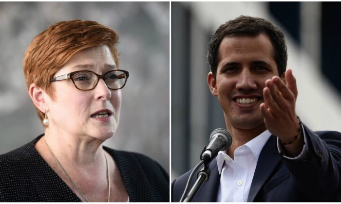 (L) Australian Foreign Minister Marise Payne. (Lillian Suwanumpha/AFP/Getty Images)
