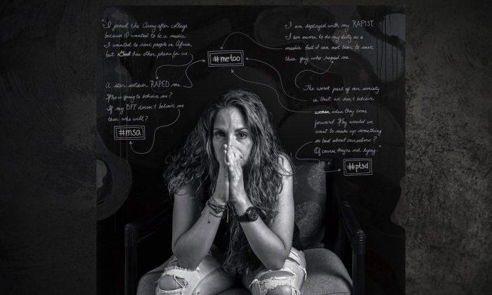 "A portrait of Renoula A. Trotter form Susan J. Barron's ""Depicting the Invisible: A Portrait Series of Veterans Struggling with PTSD."" (Susan J. Barron)"