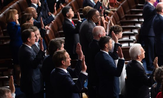 Members of the House are sworn-in during the beginning of the 116th Congress at the Capitol in Washington, on Jan. 3, 2019. (Saul Loeb/AFP/Getty Images)