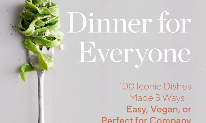 """Dinner for Everyone: 100 Iconic Dishes Made 3 Ways—Easy, Vegan, or Perfect for Company"" by Mark Bittman ($40)."