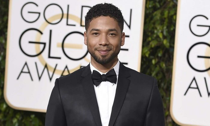Actor and singer Jussie Smollett arrives at the 73rd annual Golden Globe Awards in Beverly Hills, Calif., on