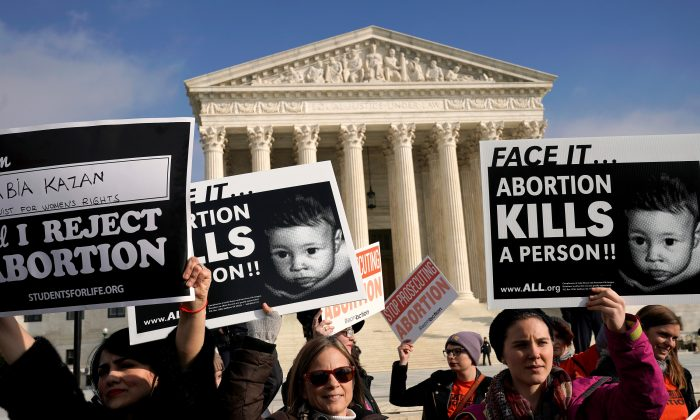 Anti-abortion marchers rally at the Supreme Court during the 46th annual March for Life in Washington on Jan. 18, 2019. (Reuters/Joshua Roberts)