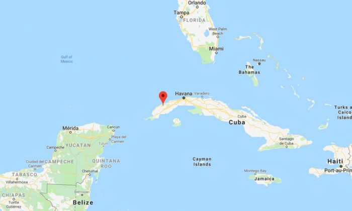 An apparent meteorite landed in western Cuba on Feb. 1, according to reports and photos published on social media (Google Maps)