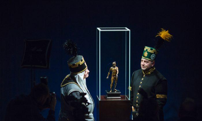 "The first public presentation of the ""Dresden Mars,"" at the Stadtmuseum Freiberg on Jan. 23. 2019. (Oliver Killig/Staatliche Kunstsammlungen Dresden)"