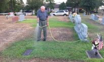 Man Waters a Fallen Soldier's Run-Down Grave Daily While Visiting Wife's Burial Place