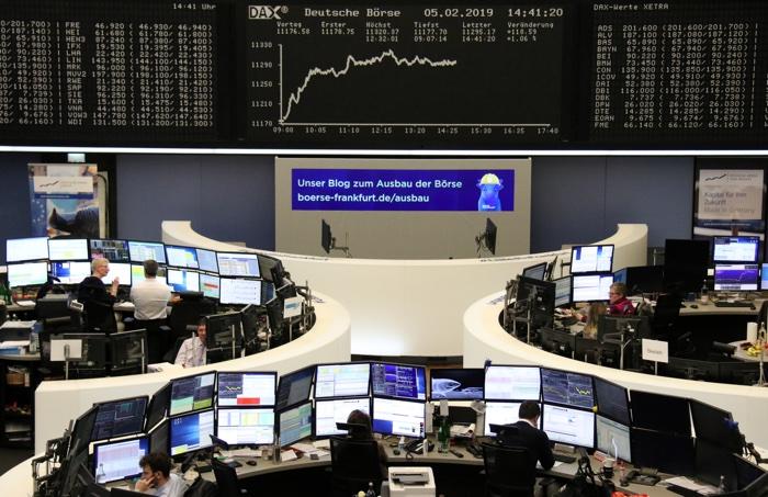 Stock exchange in Frankfurt Germany