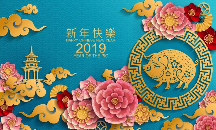 Year of the Pig 2019 (Siam vector/Shutterstock)
