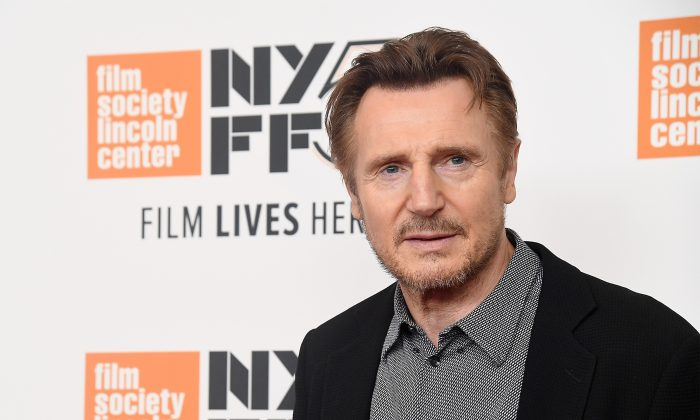 "Liam Neeson attends the screening of  ""The Ballad of Buster Scruggs"" during the 56th New York Film Festival at Alice Tully Hall, Lincoln Center on Oct. 4, 2018 in New York City.  (Nicholas Hunt/Getty Images)"