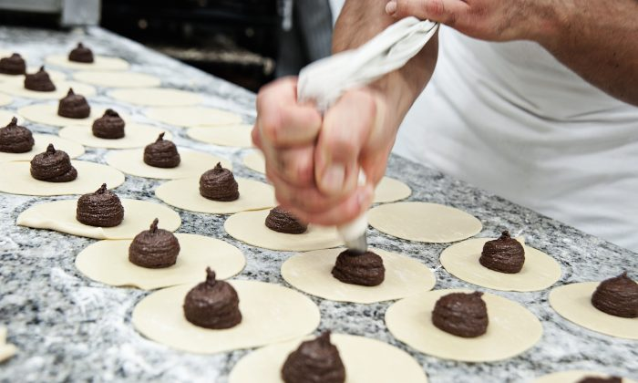 Making 'mpanatiggi, Sicily's centuries-old chocolate meat pies. (Courtesy of L'Antica Dolceria Bonajuto)