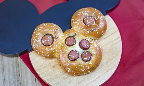 This Undated Photo Provided By Disneyland Resort Shows A Mickey Mouse Shaped Chinese Hot Dog