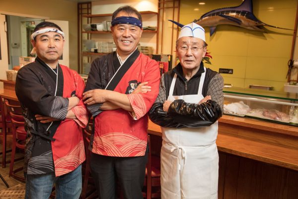 Owner Kyung Ho Lee and chef pong song oh of Golden Sushi