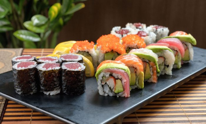 An assortment of made-to-order sushi rolls. (Benny Zhang)