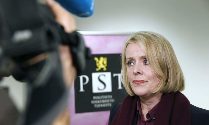 Marie Benedicte Bjornland, head of the Norwegian police security and domestic intelligence service PST, addresses the media in Oslo, on Dec. 13, 2014. (Terje Bendiksby/AFP/Getty Images)