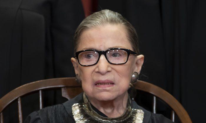 Supreme Court Justice Ruth Bader Ginsburg, 85, in a Nov. 30, 2018 file photo. (AP Photo/J. Scott Applewhite, File)