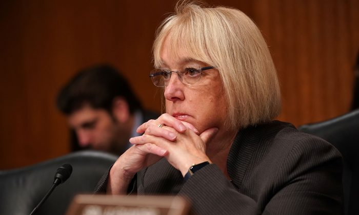 Sen. Patty Murray in the Dirksen Senate Office Building on Capitol Hill on Nov. 15, 2017. (Chip Somodevilla/Getty Images)